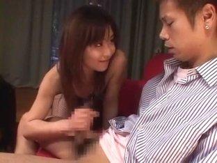 Fabulous Japanese girl Riri Kouda, Arisa Matsumoto in Amazing Stockings/Pansuto JAV movie