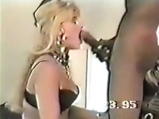 Another vintage blonde takes black