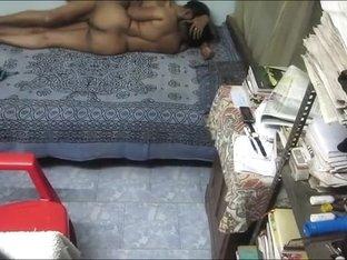 Hidden cam caught this sideways sex