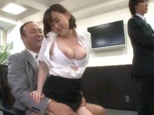 Incredible Japanese model Saki Asahina, Minako Uchida, Kyouko Maki in Hottest Secretary, Blowjob J.