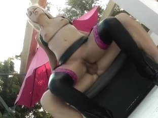 I'm fucking by the pool in my blonde amateur sex video