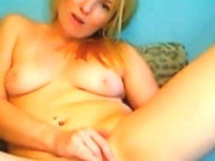 Golden-Haired Hotty Masturbates On Webcam