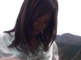 Big boobed Asian teen Sayuki Kanno in outdoor exhibitionism