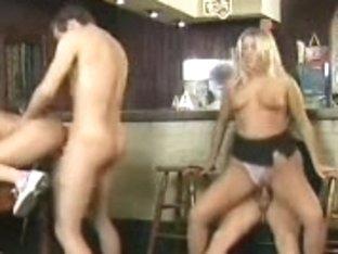 German hard foursome in a pub