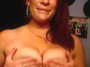 Playing with my huge tatas on webcam
