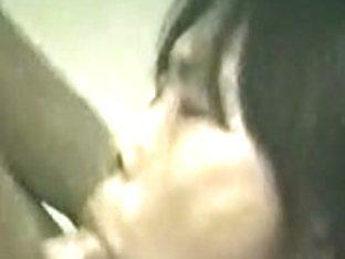 Asian wife sucks cock till the orgasmic culmination