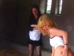 Hot sluts in kinky butt spanking action