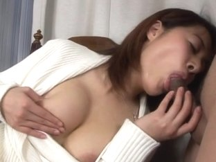 Cock sucking Japanese chick gets her mouth loaded with jizz