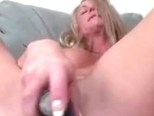 Tattooed large tit golden-haired toys with a sex-toy