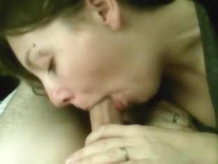 in bed blowjob