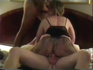 My slut wife double fucked on camera