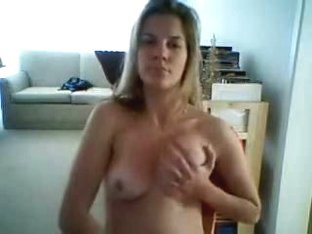 Blonde cutie masturbating