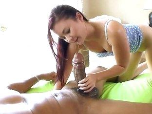 Petite asian Kita Zen takes on fat monster cock
