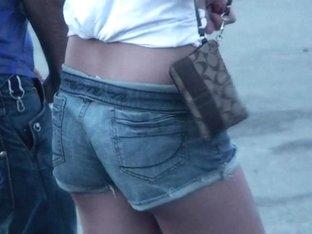 Teen In Denim Shorts