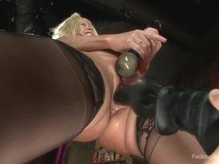 Horny milf, fetish sex scene with exotic pornstar Simone Sonay from Fuckingmachines