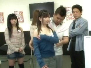 Crazy Japanese slut Tsumugi Serizawa, Jun Mamiya in Horny Secretary, Cumshots JAV movie