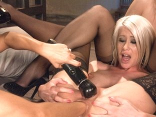 Exotic blonde, fetish sex scene with best pornstars Anikka Albrite, Riley Jenner and Francesca Le .