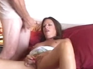Hot aged honey has a stroke whilst some fella cums on her meatballs