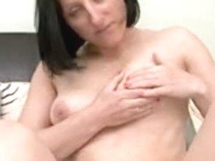 Mamma Touching Her Vagina