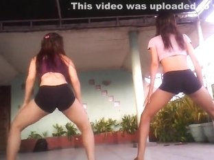 Excited ass pop web camera dance record