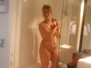 Curvy MILF takes a shower in an awesome HD video