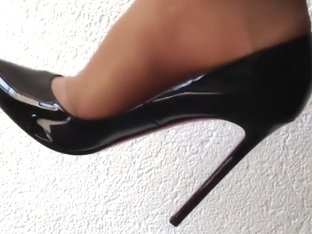 Dangling beautiful christian louboutin high heels