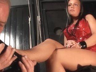 Candy Cox in FunMovies video:Slave Handjob