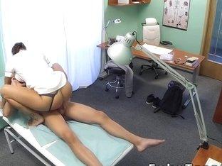 Nurse fucks patient in a hospital