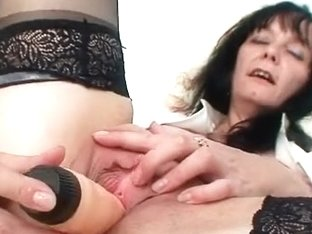 Smutty old mother i'd like to fuck nurse got worthy large love muffins underneath latex