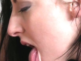 Love Creampie Sexy babe with hard nipples sucking cock
