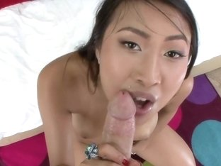 Hot Asian gets creampied