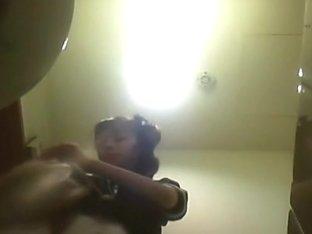 Some horny scenes caught on spy cam in public toilet