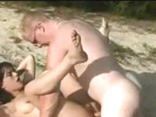 Hawt Fuck and Cum on Beach BVR