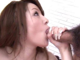 Ria Sakurai took the multiple cumshot challenge