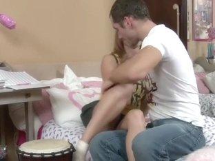 Adorable Skinny Teen Fucks Lucky Guy