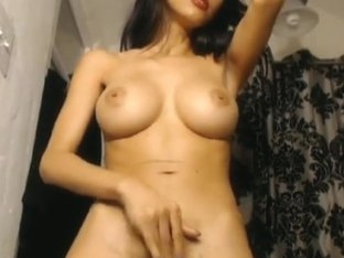 Busty Hottie Strips and Fucks her Tight Pussy