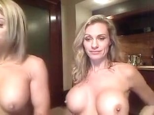 Two blondes strap on fuck