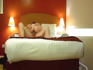 Blonde milf fucks her man on the sofa and on the bed