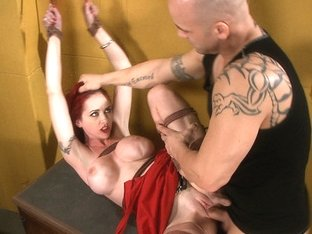 Hottest fetish xxx scene with best pornstars Mz Berlin and Derrick Pierce from Dungeonsex