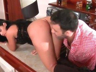 Pietra lies breathlessly while Roge Ferro licks her