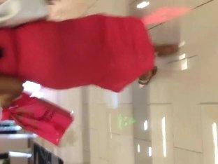 Fat black Milf ass in pink see thru dress