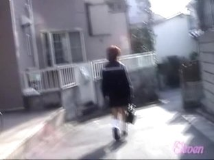 Angelic oriental schoolgirl getting involved in surprising sharking affair