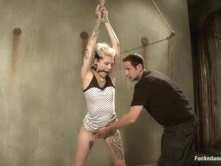 Hottest fetish xxx scene with amazing pornstar Romona Vaine from Dungeonsex