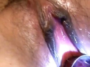 Reina Mizuki gets vibrator and syringe with cum in her