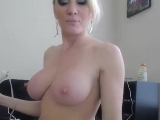 Blond hottie toying her wet ass and pussy