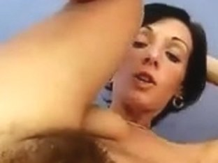 Hairy Brunette Masturbation