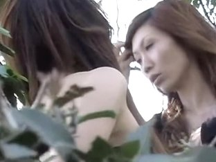 Group sharking attack with two stunning Asian gals being really surprised
