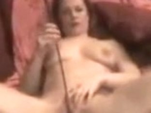 Horny wife masturbating with a whip in this movie