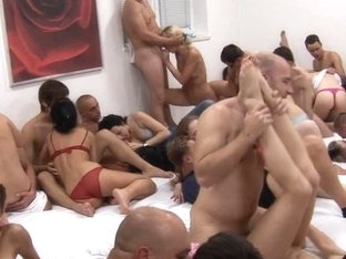 GIANT FUCKFEST IN ONE ROOM AT CZECH MEGA SWINGERS