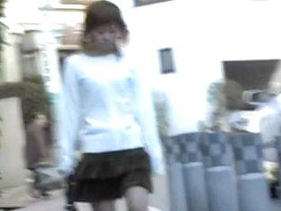Cute girl got shuri sharked while walking down the street